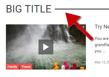 big title - line